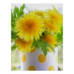 Spring Dandelion Bouquet Poster