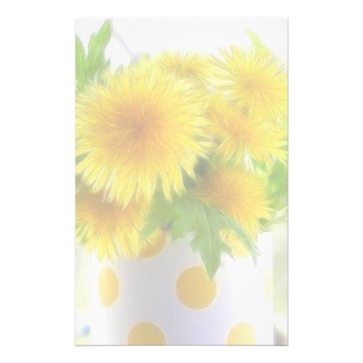 Spring Dandelion Bouquet Stationery Design