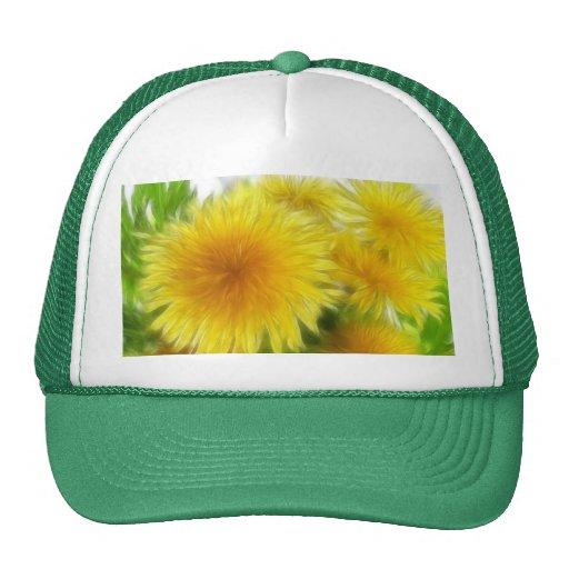 Spring Dandelion Bouquet Trucker Hat