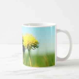 Spring dandelions coffee mug