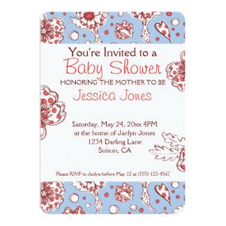 Spring Darlin' Cute Floral 5x7 Paper Invitation Card