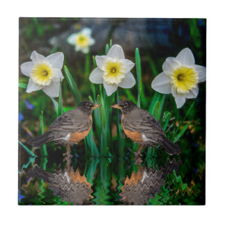Spring Date Small Square Tile