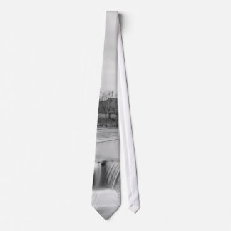Spring Day At Ozark Mill Grayscale Neck Tie