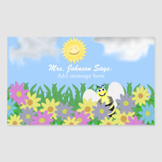 Spring Day: Bee Message Stickers