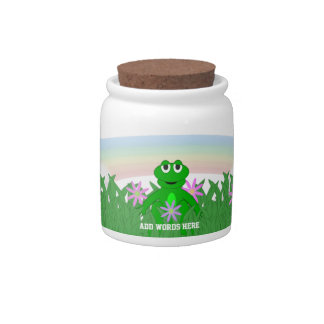 Spring Day Frog Candy Dish