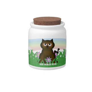 Spring Day Kitty Candy Dish