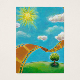 Spring day movie art fun painting for film lovers business card