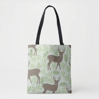 Spring Deer Pattern Tote Bag