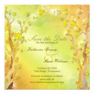 Spring Delight Bohemian Wedding Save the Date Card