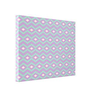 Spring Diamond Zigzag Canvas