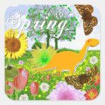 Spring Dinosaur Stickers