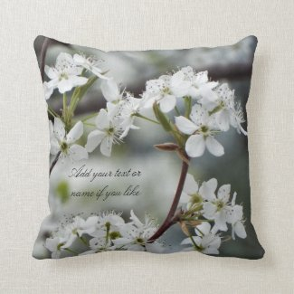Spring dogwood pillow custom text