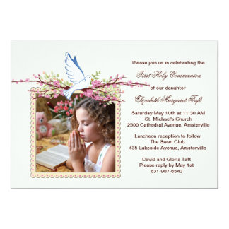 Spring Dove Religious Photo Invitation