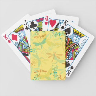 spring dragonflies bicycle playing cards