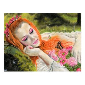 Spring dream beauty postcard