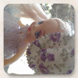 Spring Dressed Doll Drink Coaster
