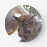 Spring Dressed Doll Wall Clock
