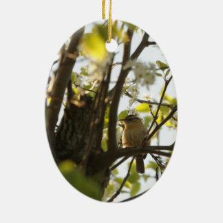 Spring/Easter: American Robin/Sparrow Ceramic Ornament
