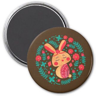 Spring Easter Bunny Pattern on Magnet Illustration by Haidi Shabrina