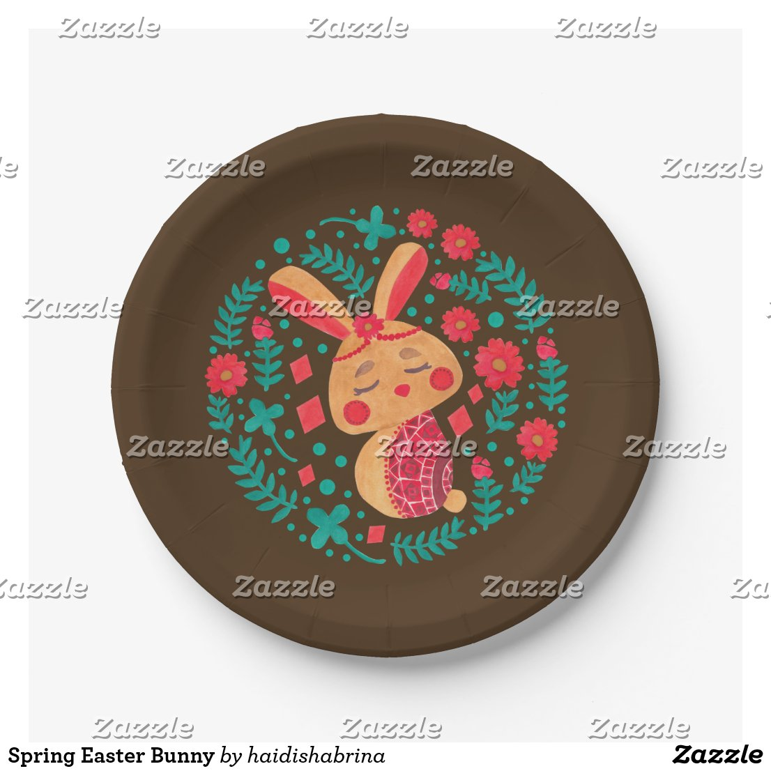 Spring Easter Bunny Paper Plate