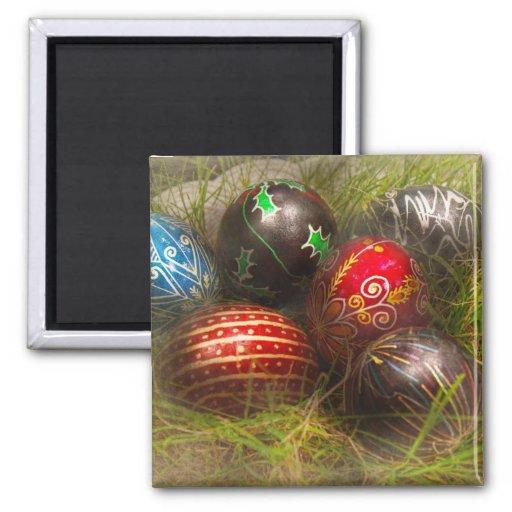 Spring - Easter - Easter Eggs 2 Inch Square Magnet