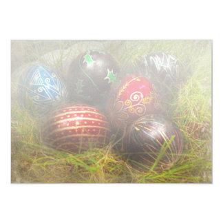 "Spring - Easter - Easter Eggs 5"" X 7"" Invitation Card"