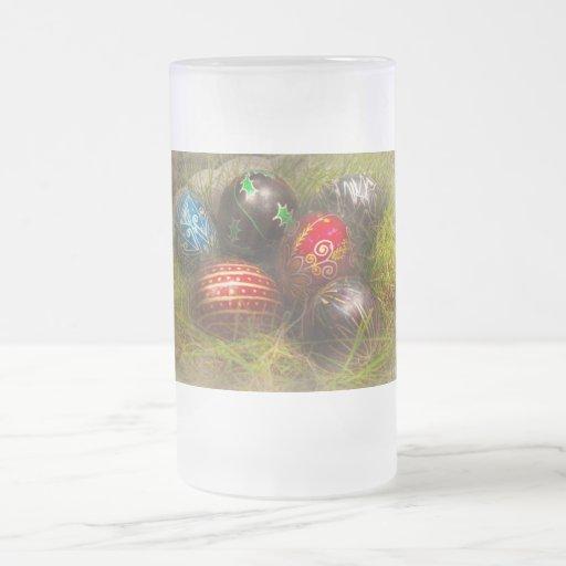 Spring - Easter - Easter Eggs 16 Oz Frosted Glass Beer Mug