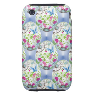 Spring Easter Egg Butterfly Flowers Vines Design Tough iPhone 3 Case