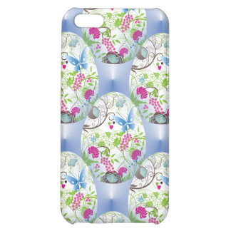 Spring Easter Egg Butterfly Flowers Vines Design iPhone 5C Cases