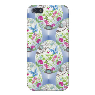 Spring Easter Egg Butterfly Flowers Vines Design iPhone 5 Case