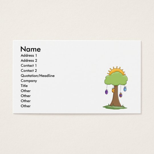 spring easter egg tree business card