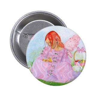 Spring Easter Fairy Bunny  Button