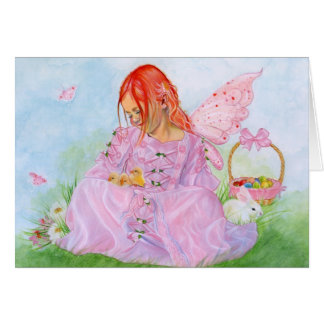 Spring Easter Fairy Bunny Card