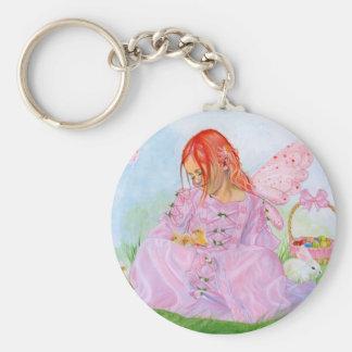 Spring Easter Fairy Bunny  Keychain