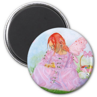 Spring Easter Fairy Bunny Magnet