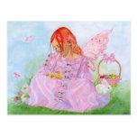 Spring Easter Fairy Bunny Postcard