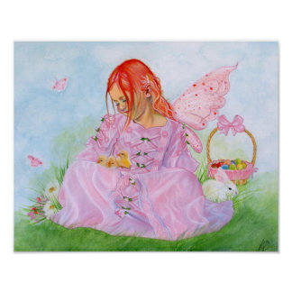 Spring Easter Fairy Bunny Print/Poster Poster