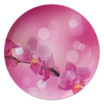 spring Easter  floral Plate