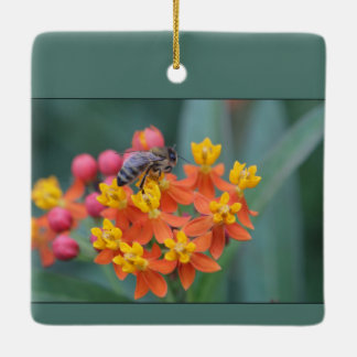 Spring/Easter: Lilies and Bee Ceramic Ornament