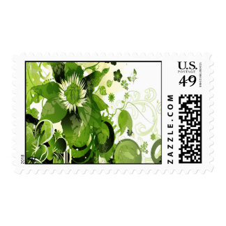 Spring Emerald Green Floral Postage