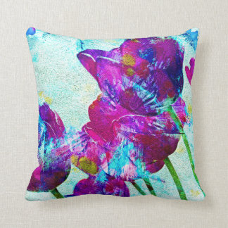 Spring Energies 4 Tulip Abstract Throw Pillow
