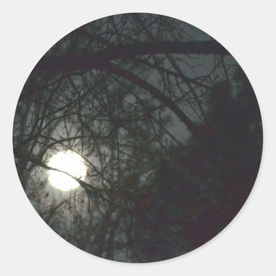 Spring Equinox Full Moon Classic Round Sticker