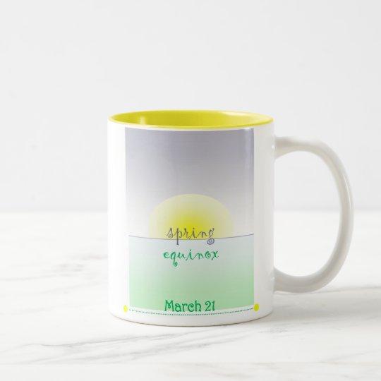 spring equinox, spring equinox IN Two-Tone Coffee Mug