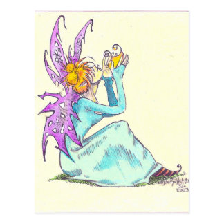 spring faerie postcard