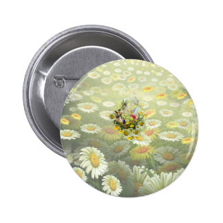 Spring fairies pinback button