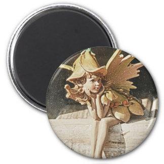 Spring Fairy 2 Inch Round Magnet