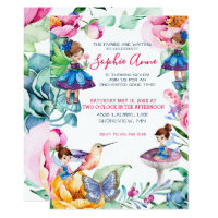 Fairy birthday invitations announcements zazzle spring fairy birthday party invitation filmwisefo Images