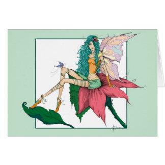Spring Fairy Blank Greeting Card