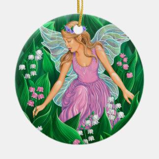 Spring Fairy Ceramic Ornament