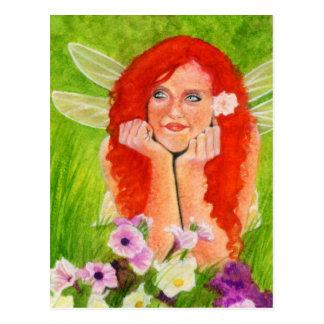 Spring fairy flower Postcard